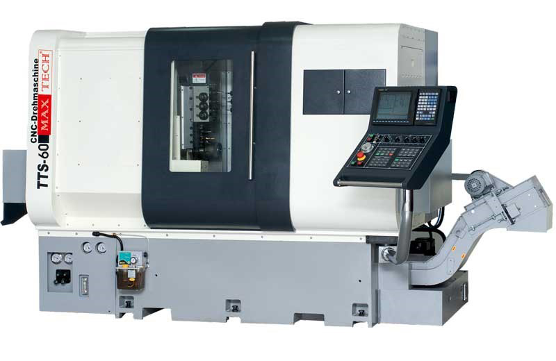 Two spindle CNC turning center with 9 axes - TTS 60 Max Tech